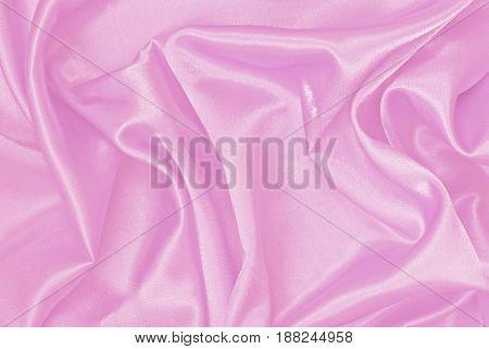 Soft pink silk ore satin wavy background