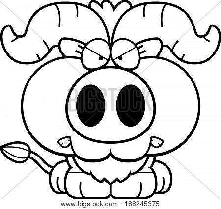 Cartoon Little Ox Angry