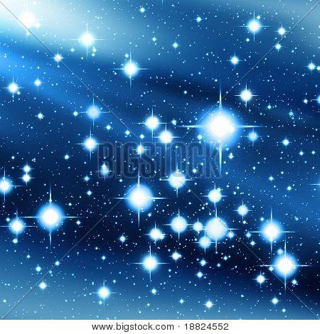 Idyllic starry sky