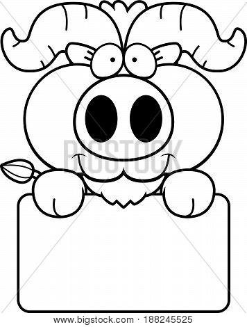 Cartoon Little Ox Sign