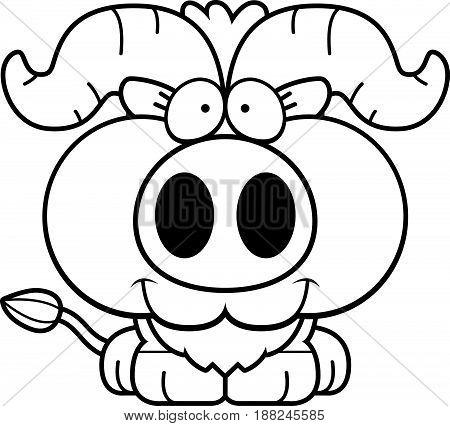 Cartoon Little Ox Smiling
