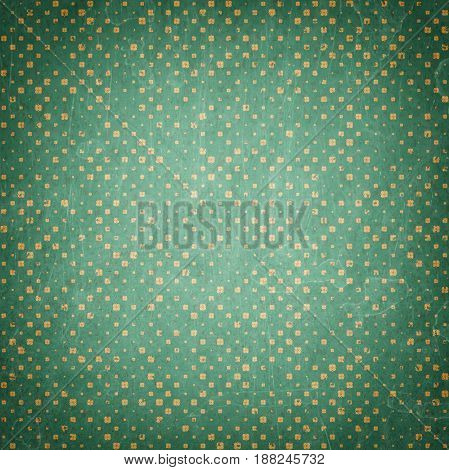 Dirty vintage background. Retro pattern with dots and textures. Textured old backdrop. Vintage pattern in retro colors
