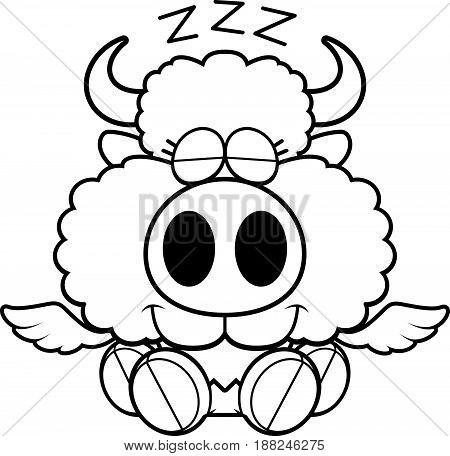 Cartoon Buffalo Wings Napping