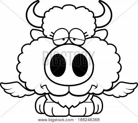 Cartoon Sad Buffalo Wings
