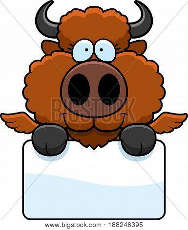 Cartoon Buffalo Wings Sign
