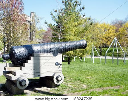 The Historical Cannon at University of Toronto in Toronto Ontario Canada