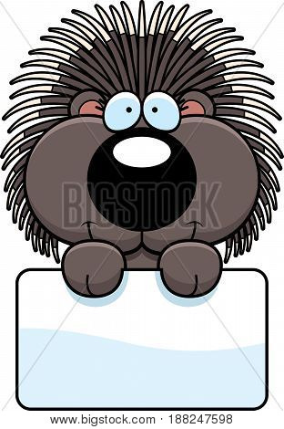 Cartoon Porcupine Sign