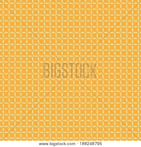 Connected Curve Seamless Pattern - Light Yellow on Light Orange