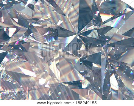 layered texture triangular macro diamond or crystal shapes background. 3d rendering model