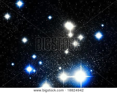 Illustration of deep space astronomical objects