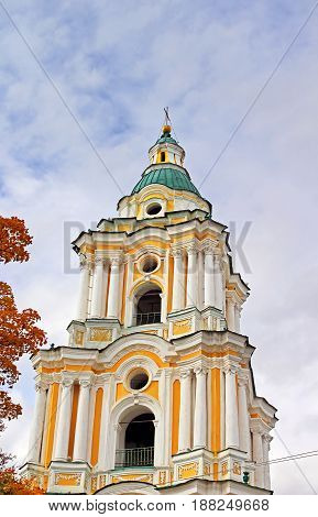 Bell tower of Trinity Monastery in Chernigiv, Ukraine