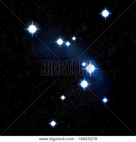 Illustrated night sky