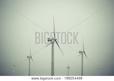 Windmill to generate electricity on the street in windy weather.