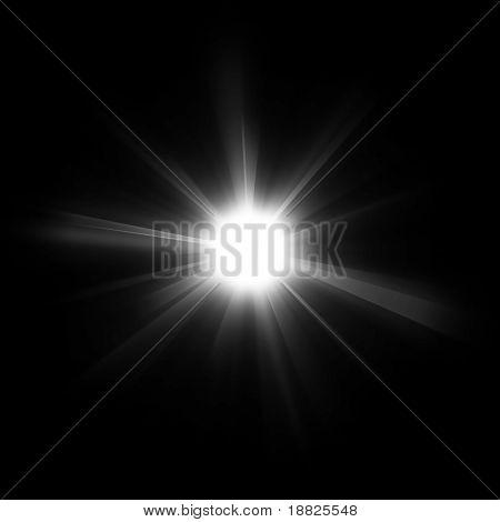 Illustrated bright star