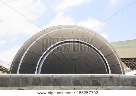 ALEXANDRIA EGYPT - 25 JUNE 2015: Planetarium in library of Alexandria one of the famous library in the world. Julius Caesar period.