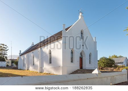 TULBACH SOUTH AFRICA - APRIL 2 2017: An historic church in Tulbach a town in the Boland area of the Western Cape Province