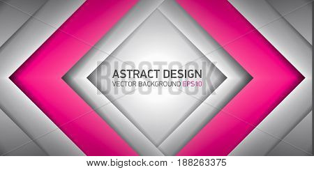 Abstract volume rhombus background, pink inside, cover for project presentation, vector design