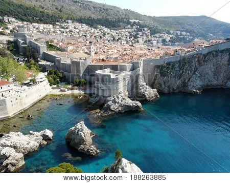 Old walled city of Dubrovnik in Croatia