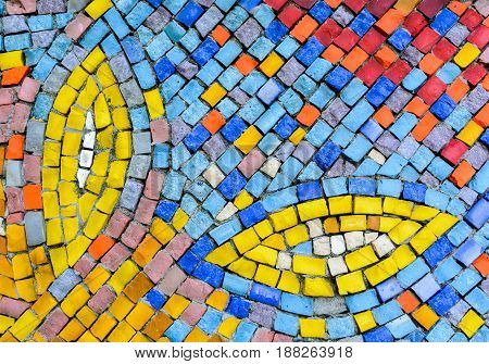 Old pattern creates a stunning image. Abstract geometric mosaic vintage ethnic seamless image ornamental