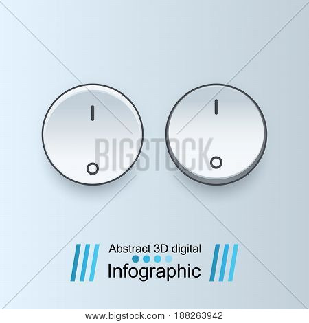 Button icon. Switch icon on the grey background