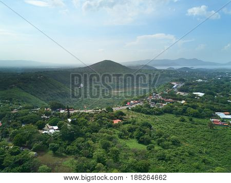 Landscape On District In Managua