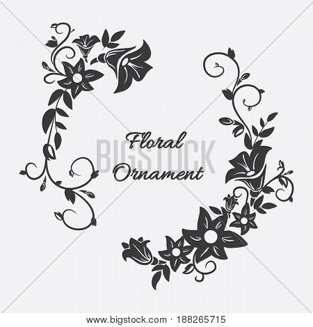 Vector card with flower ornament with format eps 10.