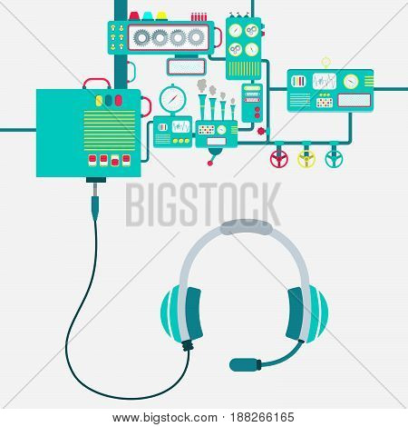 Factory And Headphone With Microphone