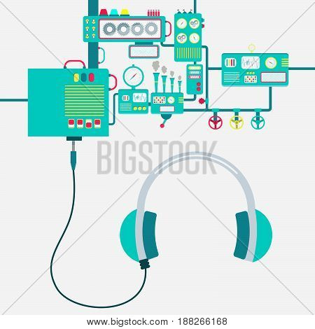 Factory And Headphone
