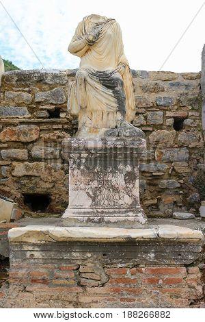 Ruins In Ephesus, Turkey