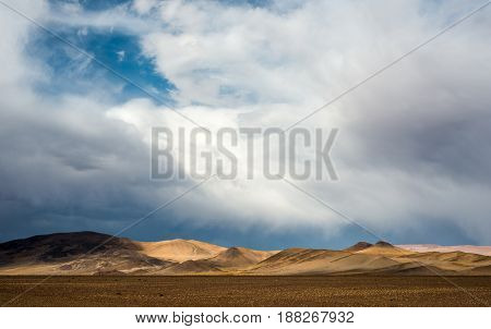 Northwest Argentina Desert Landscape near near Paso de Jama Argentina-Chile national border