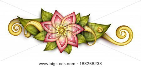 Vector Beautiful Abstract Colored Floral Composition