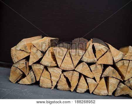 Firewood Stacked Stacks