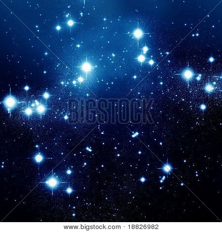 Night sky full of stars
