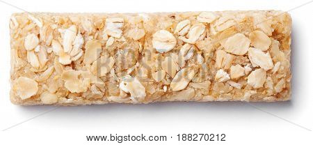 Granola Bar (muesli Or Cereal Bar) Isolated On White