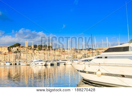 Harbor And Marina At Cannes, France
