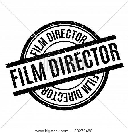 Film Director rubber stamp. Grunge design with dust scratches. Effects can be easily removed for a clean, crisp look. Color is easily changed.