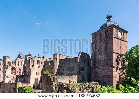 Heidelberg Schloss Castle Interior Architecture Germany European Historical Ancient
