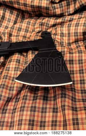 The Blade Of The Tactical Ax. Ax For Tactical Tasks.