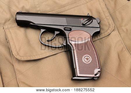 The Makarov Pistol. A Classic Pistol. Back Side.