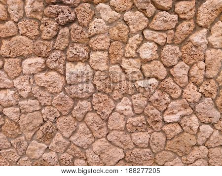 Gray stone wall decorative outside for background