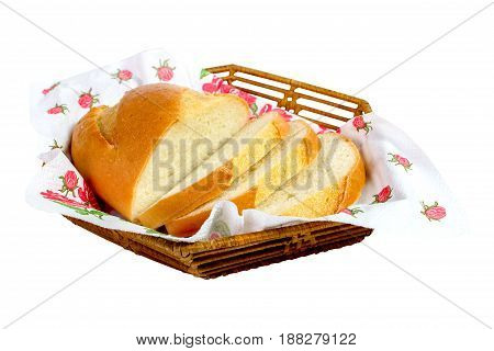 Bread Sliced On A White Background