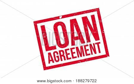 Loan Agreement rubber stamp. Grunge design with dust scratches. Effects can be easily removed for a clean, crisp look. Color is easily changed.
