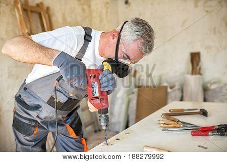 Carpenter Restores Old Door