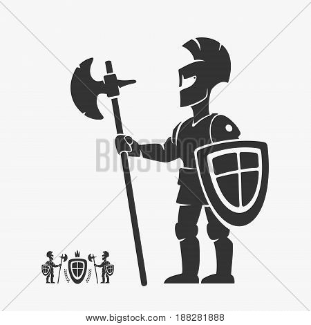 Knight Guardian Heraldry Vector Character eps 8 file format
