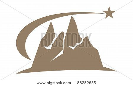 This image describe about Mountain Logo Template