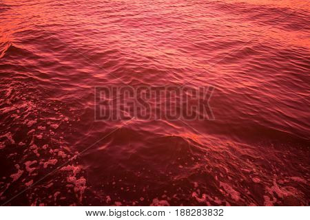 red color abstract background of liquid wave based on water wave
