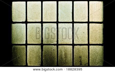 Old dirty factory window