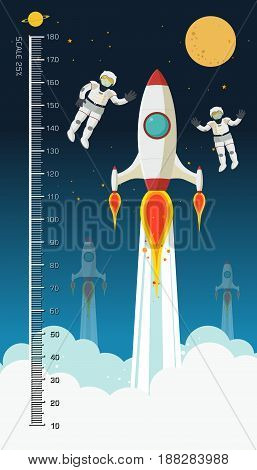 Background of children height meter meter space theme meter from 10 to 180 centimeterVector illustrations