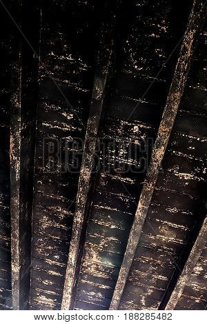 background vintage Old grunge wood planks with light