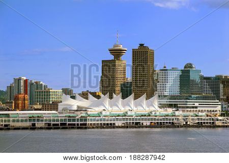 Vancouver British Columbia Downtown Skyline from the Harbor